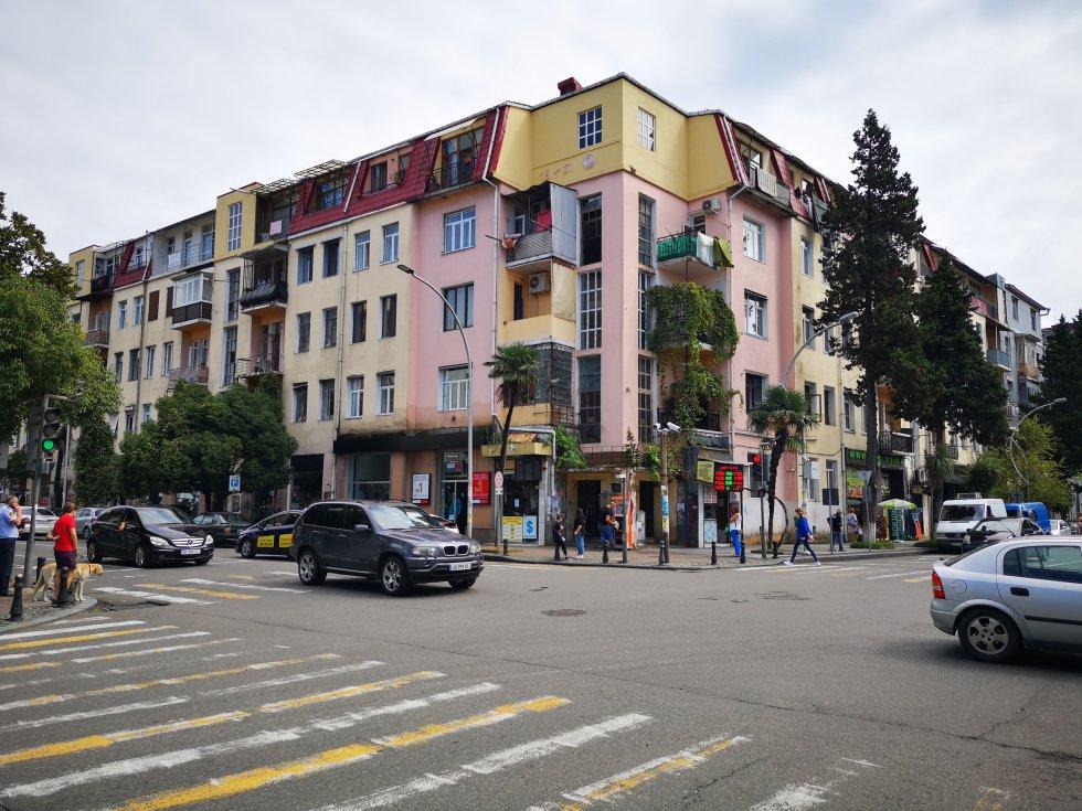 Edificios de estilo sóviet en Batumi.