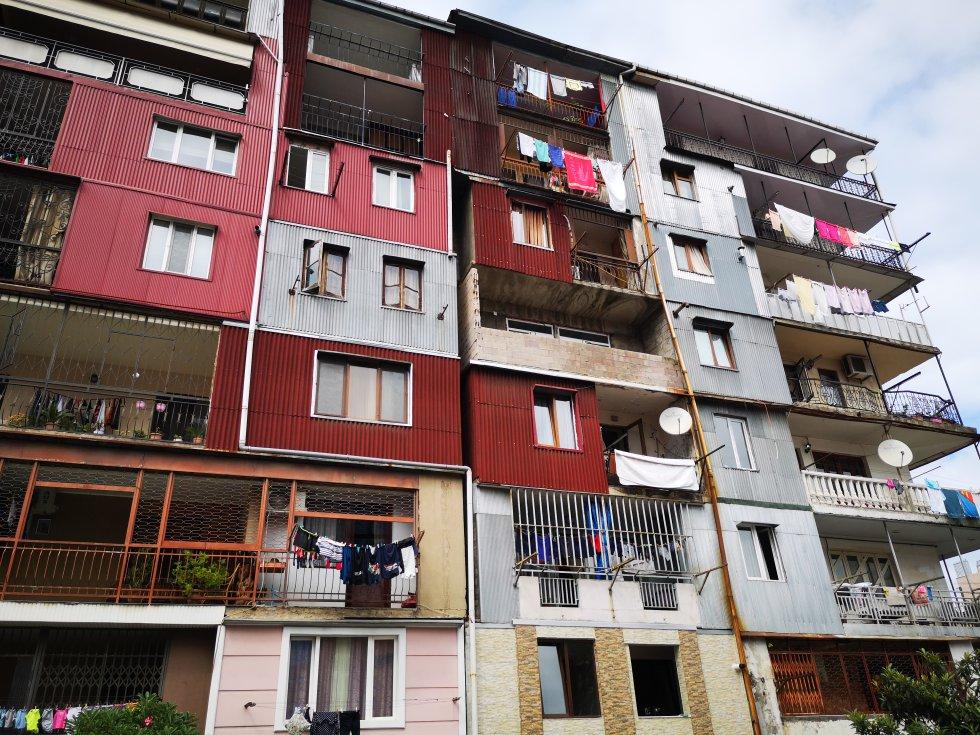 Edificios de estilo sóviet en Batumi. No fue hasta 1991, poco antes del colapso de la Unión Soviética, cuando Batumi recuperó su independencia.