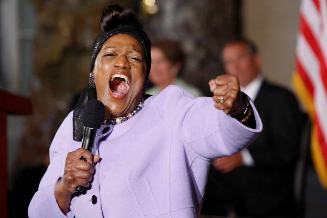 Jessye Norman cantando 'He's Got the Whole World in His Hands' en el 50º aniversario de la Marcha sobre Washington por el trabajo y la libertad