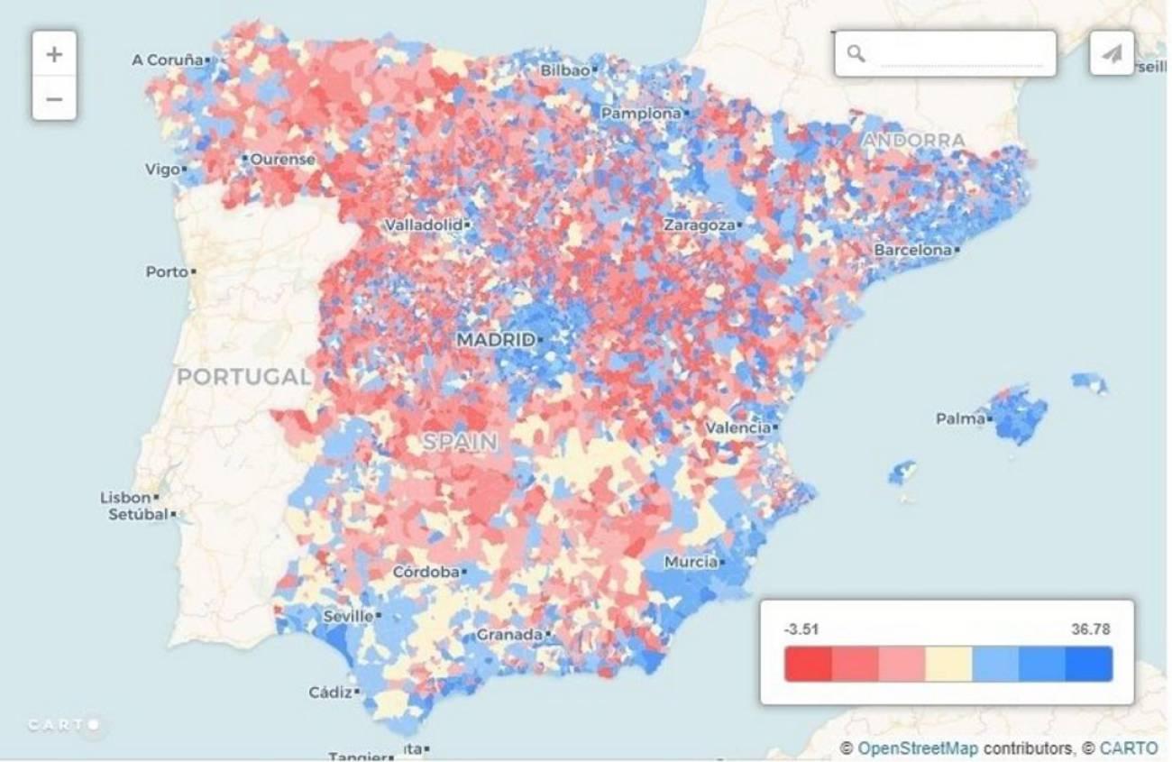 Localidades Pueblos De Madrid Mapa.La Espana Vaciada Los Mapas Y Graficos Que Evidencian La
