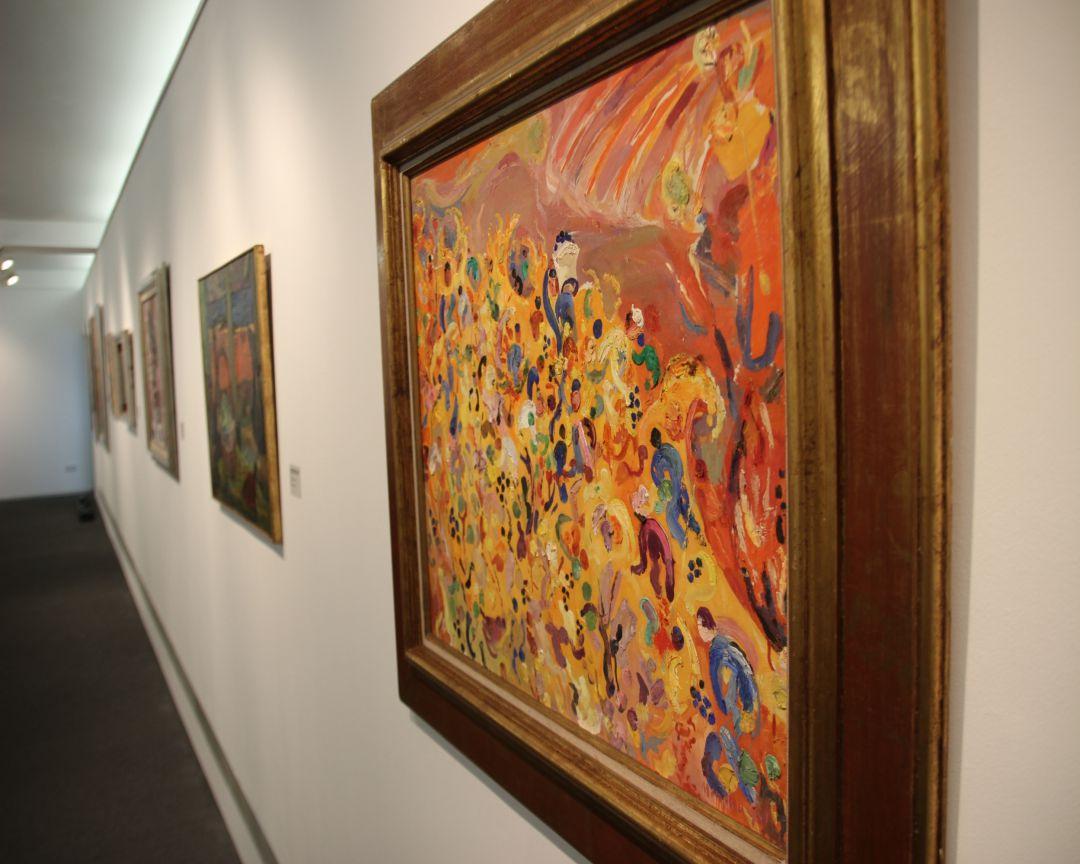 """Exposición """"Vivir pintando, pintar viviendo"""" de Menchu Gal"""