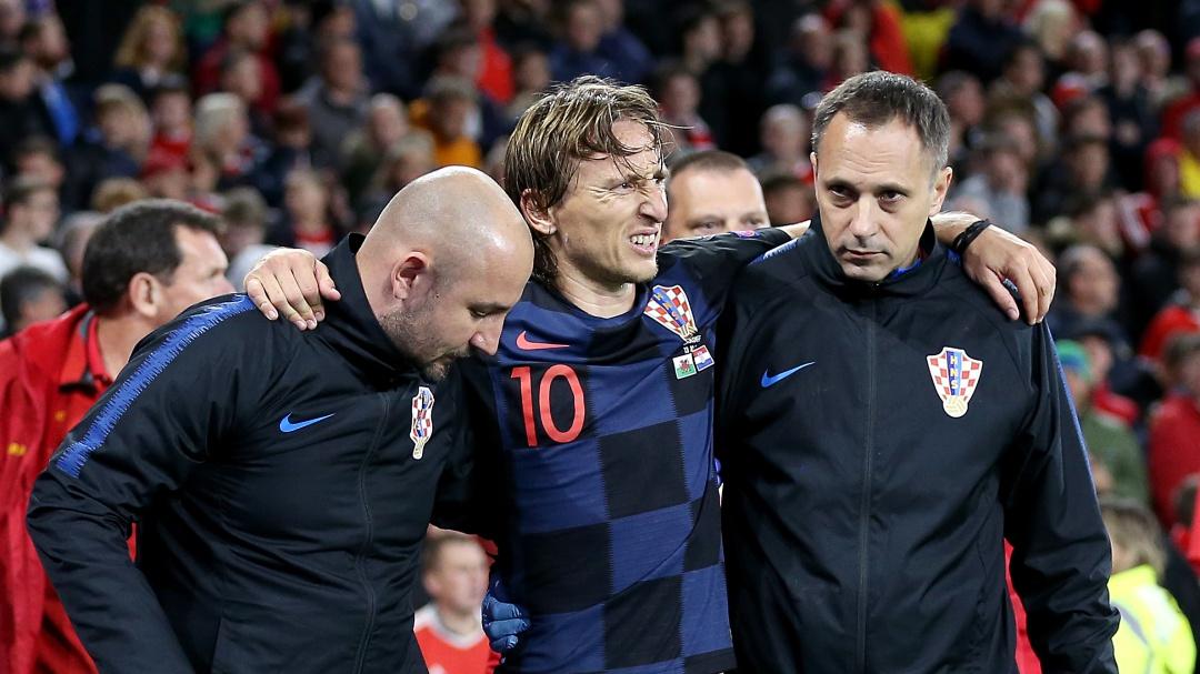 """Nikola Jerkan, sobre Modric: """"Le han visto los médicos y la primera impresión es que es un golpe"""""""