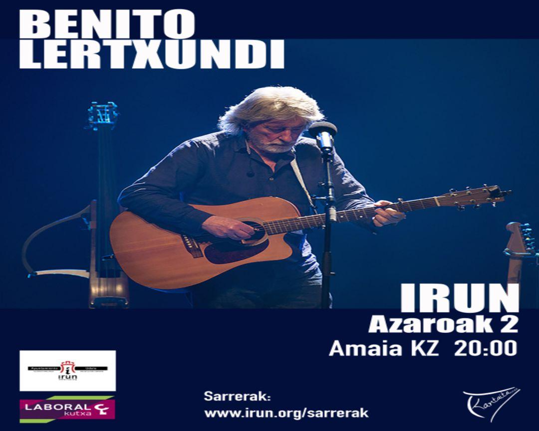 Cartel del concierto de Benito Lertxundi