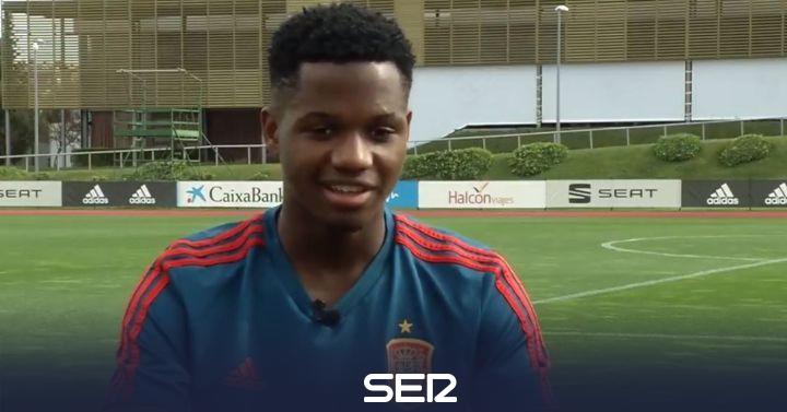 Ansu Fati se queda en el banquillo en Montenegro en su primera llamada con la selección sub 21