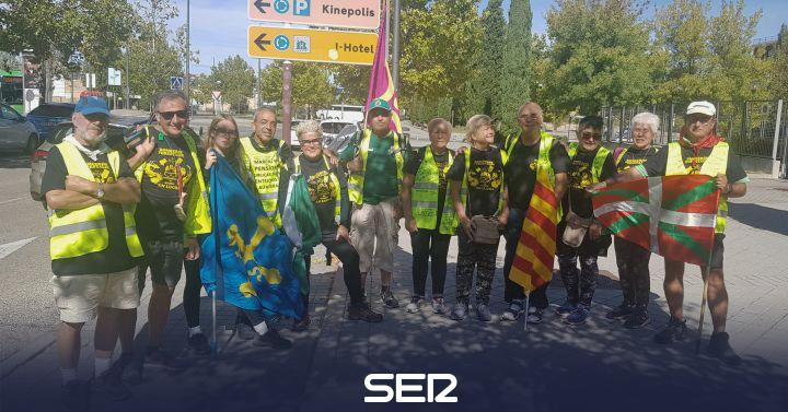 La marcha de los pensionistas llega a la Puerta del Sol