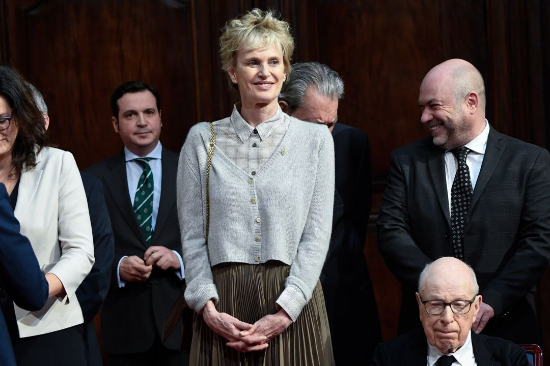 Writer Siri Hustvedt attends an audience to congratulate the winners at the Reconquista Hotel during the 'Princesa De Asturias' Awards 2019 on October 18, 2019 in Oviedo, Spain