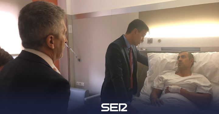 Pedro Sánchez visita a la Policía en Barcelona sin reunirse con la Generalitat