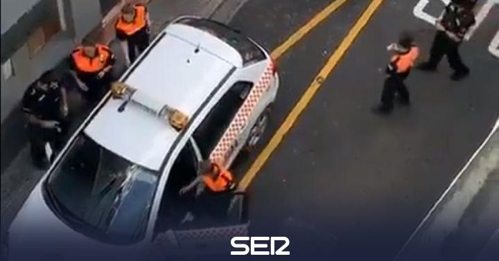El vehículo de Protección Civil que entró en Gibraltar era de El Burgo
