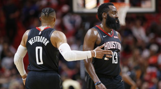 Russell Westbrook y James Harden
