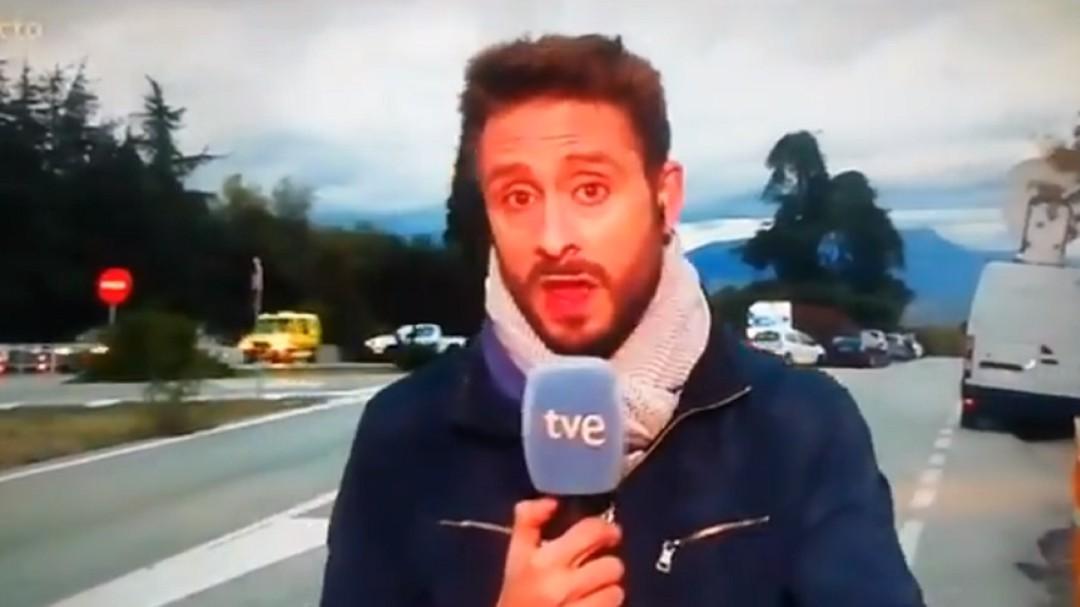 """La metedura de pata de un reportero de TVE: """"Franco descansará junto a su mujer, Carmen Calvo"""""""