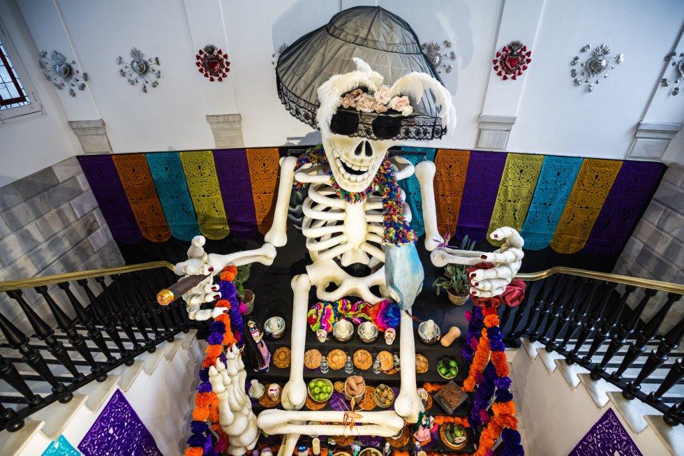 Altar en la Casa de Mexico en Madrid.