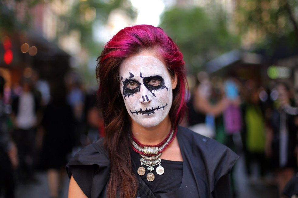 Una chica disfrazada en Sydney (Australia).
