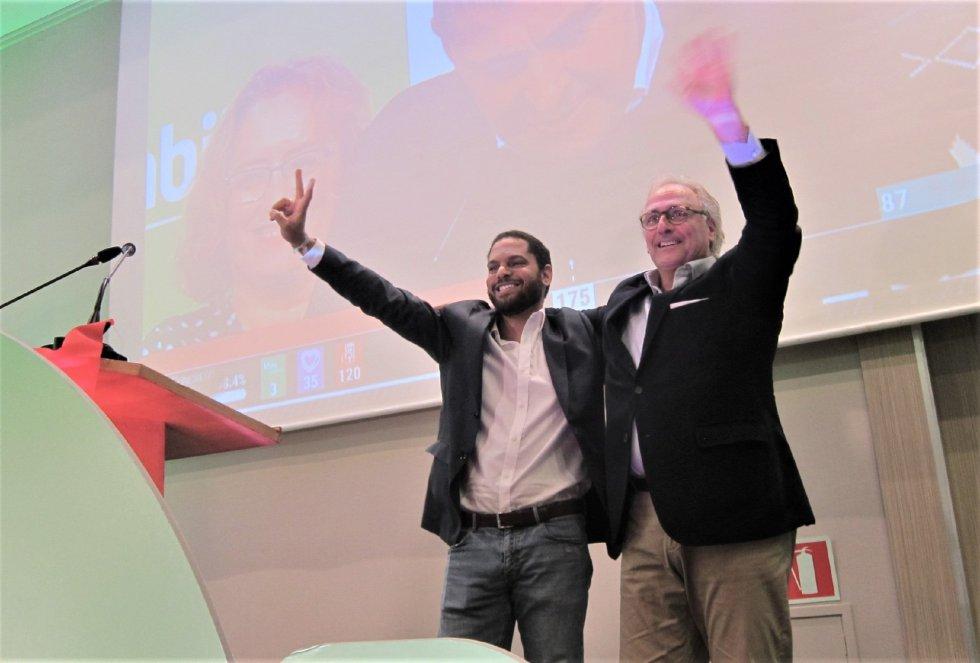 Ignacio Garriga y Juan José Aizcorbe, diputados electos de Vox por Barcelona en las elecciones generales del 10 de noviembre de 2019