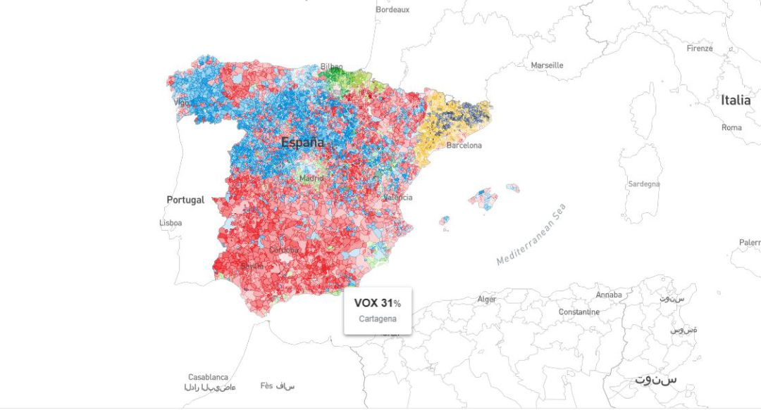 Localidades Pueblos De Madrid Mapa.Resultados De Las Elecciones Del 10 N Por Municipios