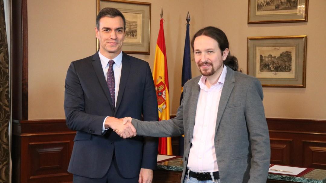 PSOE y Podemos firman un principio de acuerdo para un gobierno de coalición