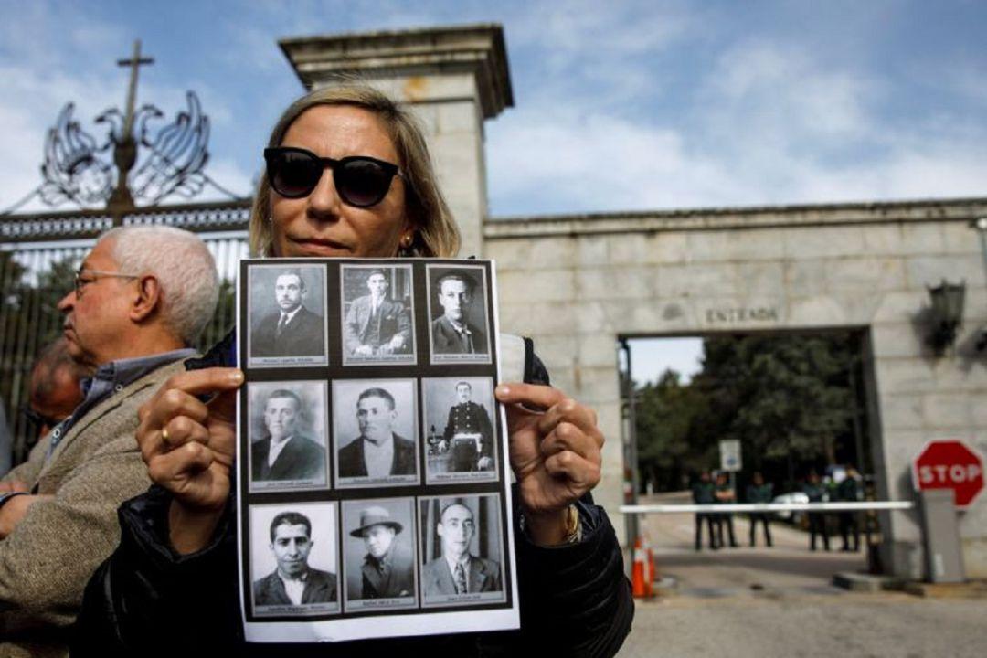 Silvia Navarro, miembro de una de las organizaciones que representan a las familias de las víctimas de la guerra civil