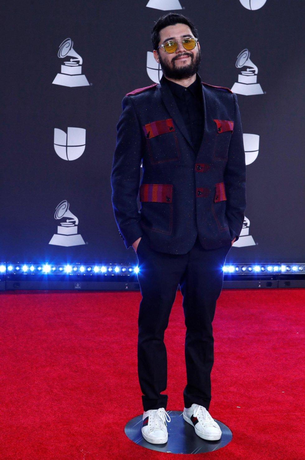 Trooko llega para la vigésima ceremonia anual de los Premios Grammy Latinos en el MGM Grand Garden Arena en Las Vegas, Nevada, EEUU.