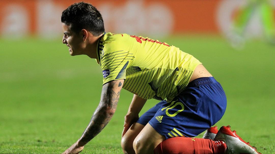 James Rodríguez se lesiona la rodilla con la Selección Colombiana