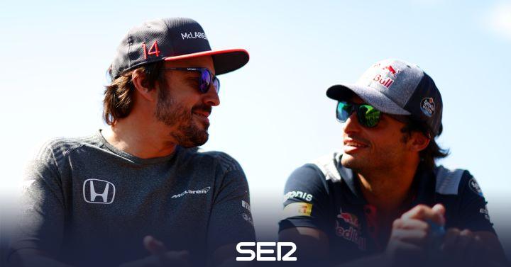 """Fernando Alonso felicita a Carlos Sainz por su primer podio: """"A por más"""""""