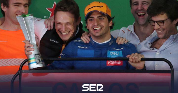 """Carlos Sainz, tras el podio: """"Toca apretar en la fábrica de McLaren"""""""