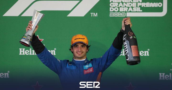 """Carlos Sainz Jr: """"Prefería pensar que no iba a llegar el podio"""""""