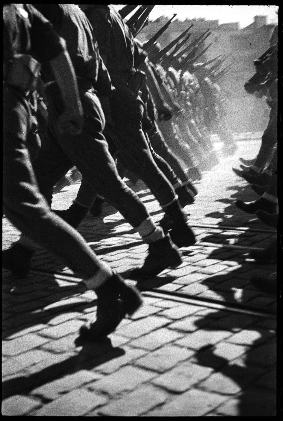 Desfile de la victoria franquista en Barcelona. 20 de febrero de 1939.