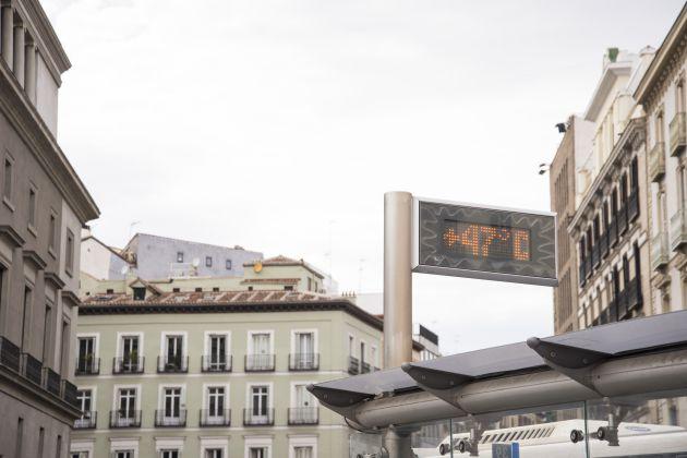 Temperatura alcanzada en el centro de Madrid.