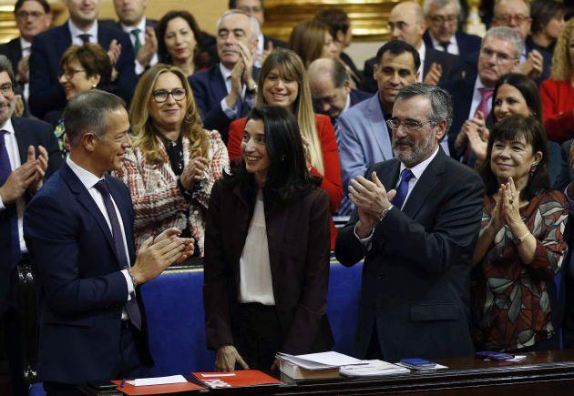 La recién elegida presidenta del Senado, la socialista Pilar Llop.