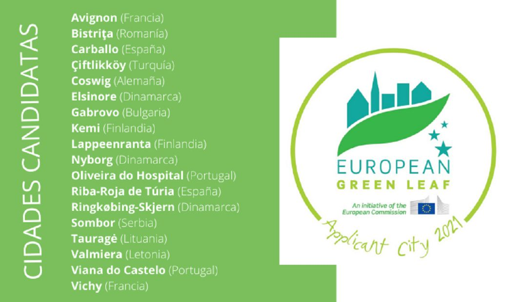 Carballo, entre as 18 cidades que optan ao premio Folla Verde Europea 2021: Carballo, entre as 18 cidades que optan ao premio Folla Verde Europea 2021