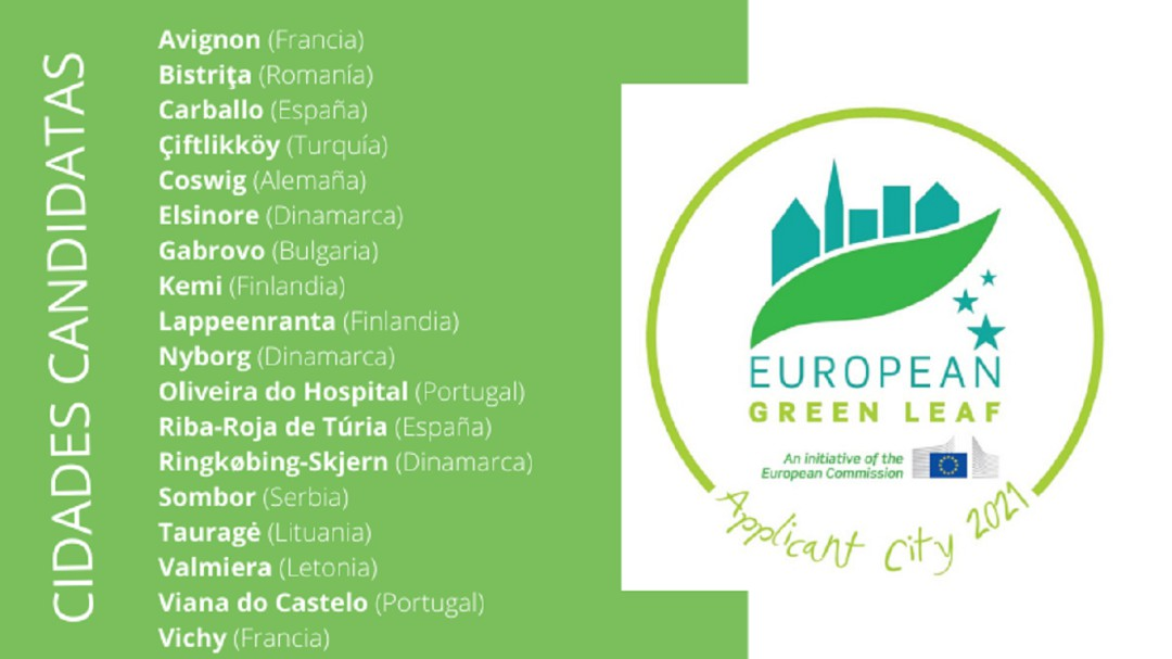 Carballo, entre as 18 cidades que optan ao premio Folla Verde Europea 2021