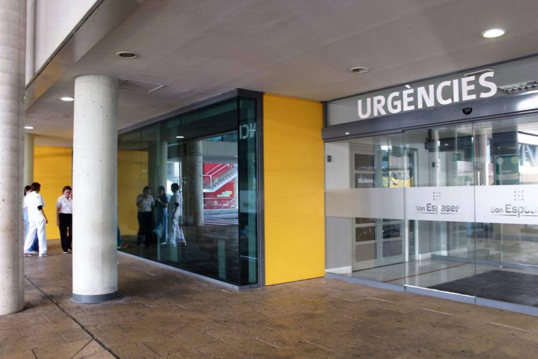 La entrada al servicio de Urgencias de Son Espases.