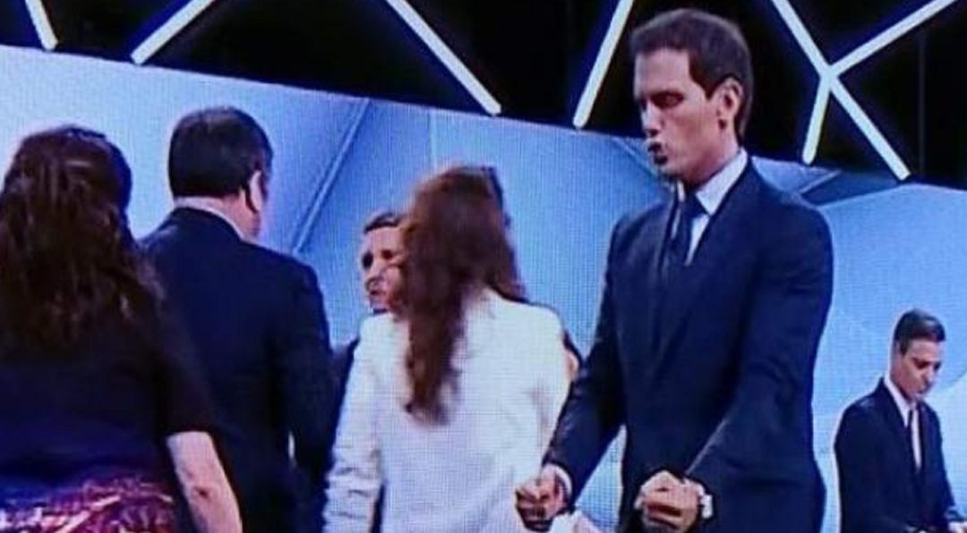Albert Rivera tras el debate.