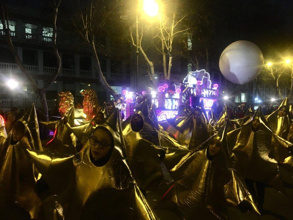 La Cabalgata de Reyes Magos de 2020 en Valladolid.