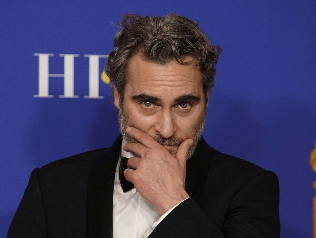 77th Golden Globe Awards - Photo Room - Beverly Hills, California, U.S., January 5, 2020 - Joaquin Phoenix poses backstage