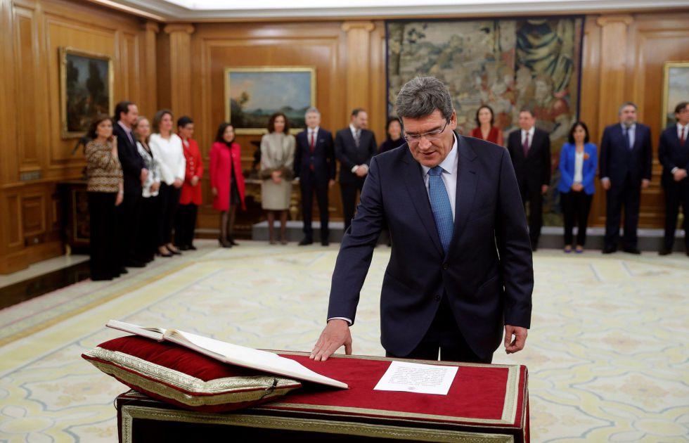 El nuevo ministro de Seguridad Social, Inclusión y Migraciones, José Luis Escrivá.