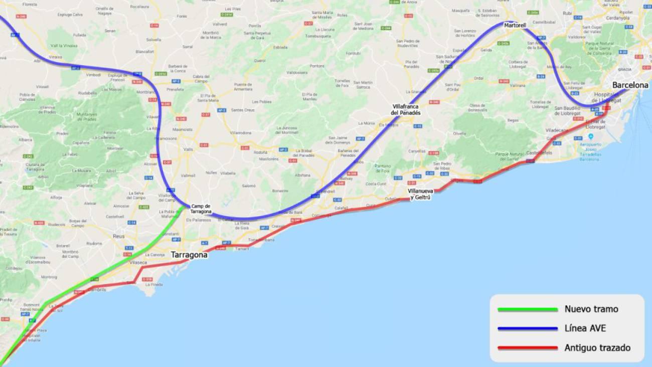 Mapa Recorrido Ave Barcelona Sevilla.Corredor Mediterraneo Castello Y Barcelona Unidas Por Tren En Menos De Dos Horas Radio Castellon Cadena Ser