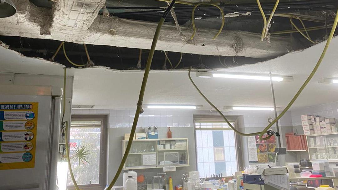Otro techo se viene abajo en un hospital madrileño