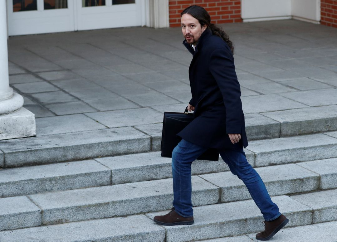 Spain's Deputy Prime Minister and Social Rights and Sustainable Development Minister Pablo Iglesias