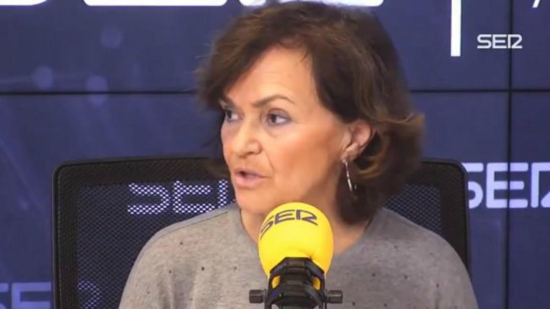 Carmen Calvo niega que la reforma del Código Penal forme parte de la mesa de diálogo con Cataluña