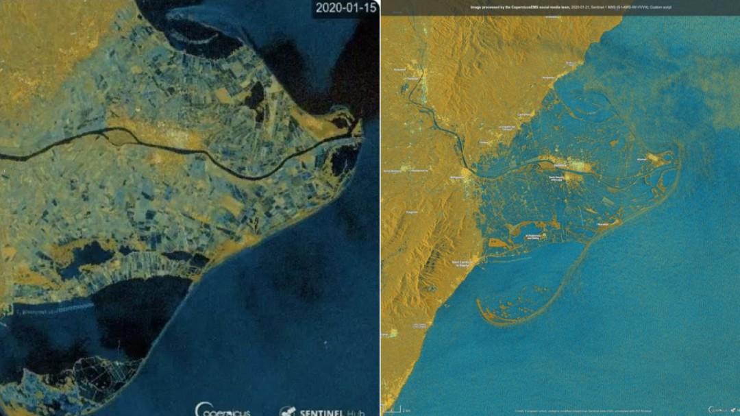 Catástrofe en el Delta del Ebro tras el paso de la borrasca 'Gloria': el antes y el después