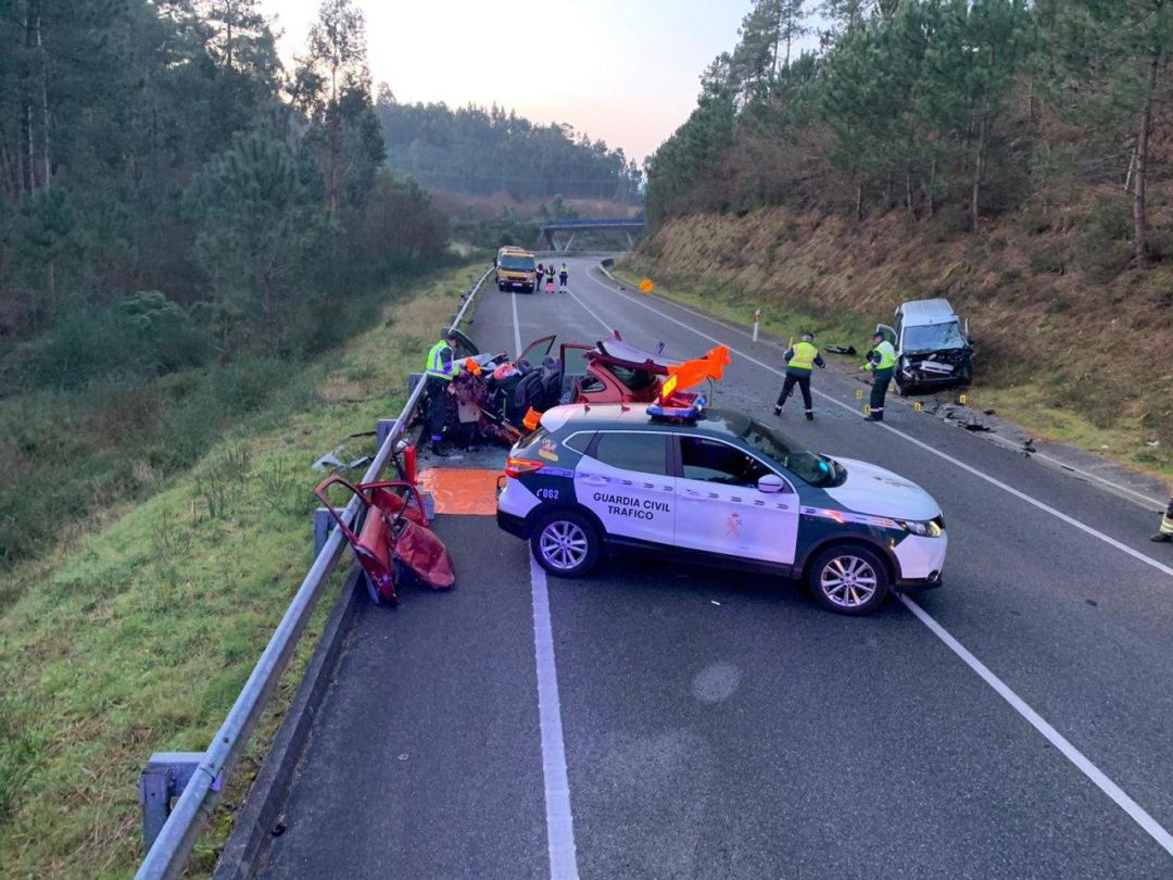 Accidente mortal en la Variante de Caldas, N-550