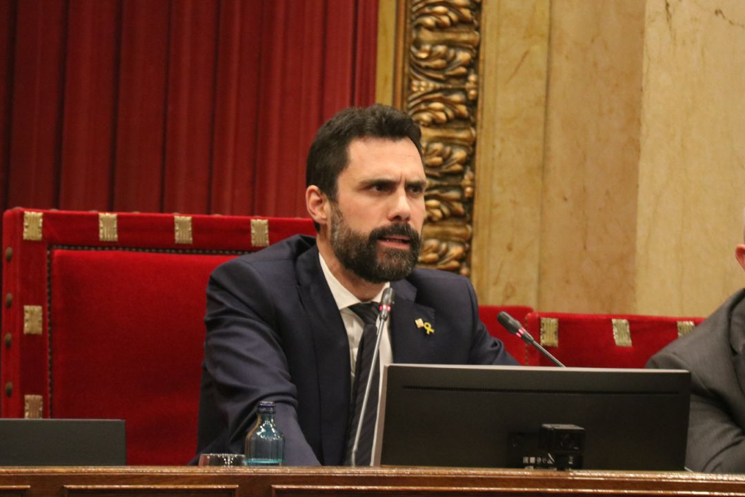 El presidente del Parlament catalán, Roger Torrent.