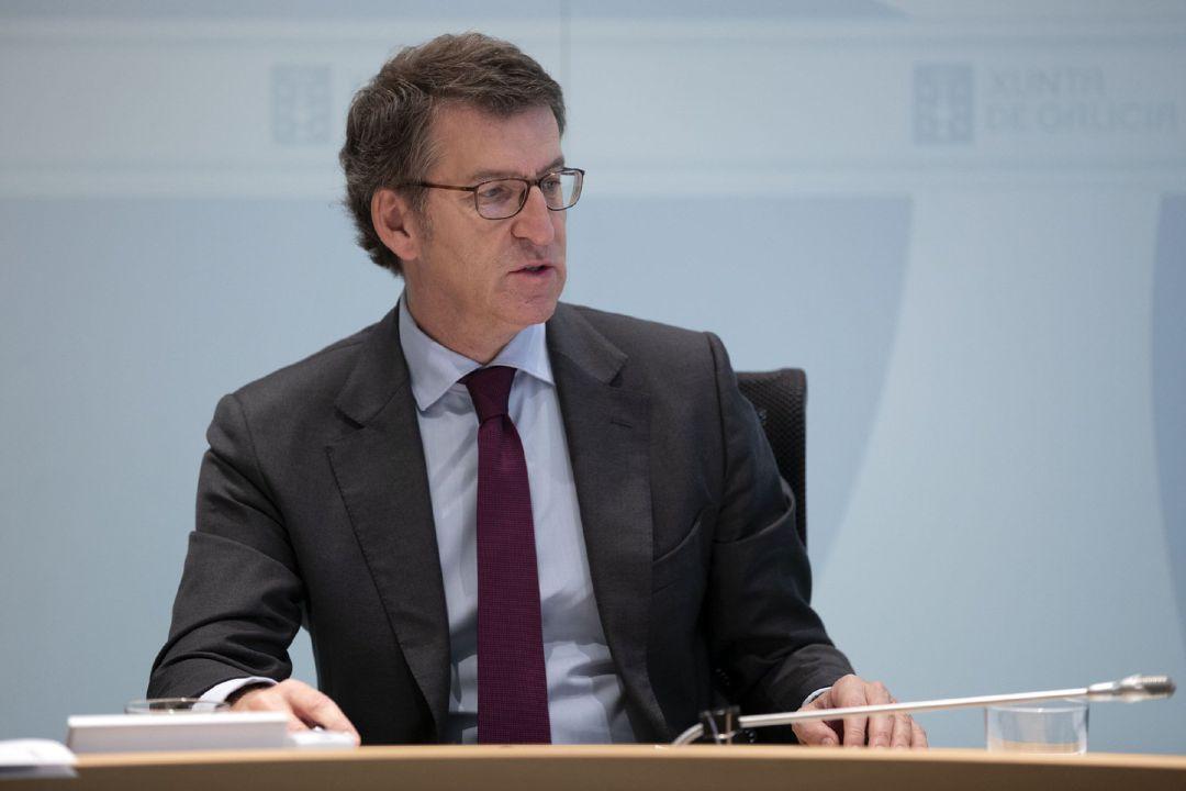 Imagen de archivo de Feijoo presidiendo el Consello de la Xunta.