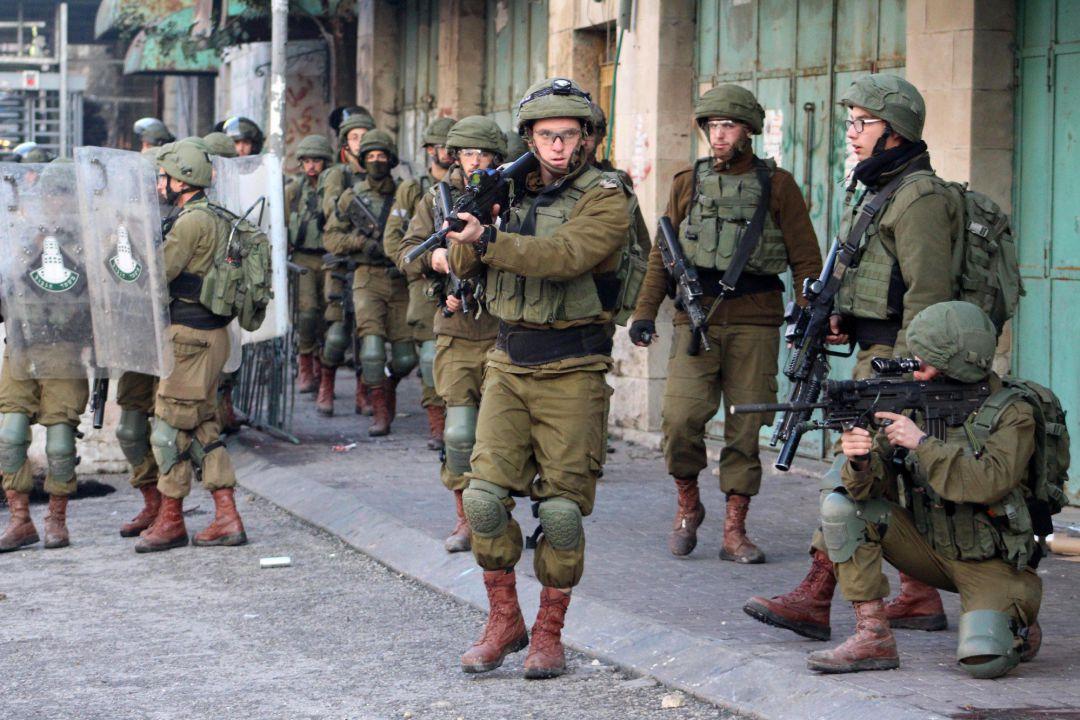 Fuerzas de seguridad de Israel durante una protesta en Cisjordania contra el conocido como 'acuerdo del siglo'