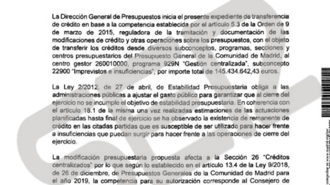 """Más Madrid acusa a Ayuso de un """"recorte encubierto"""" de 145 millones"""