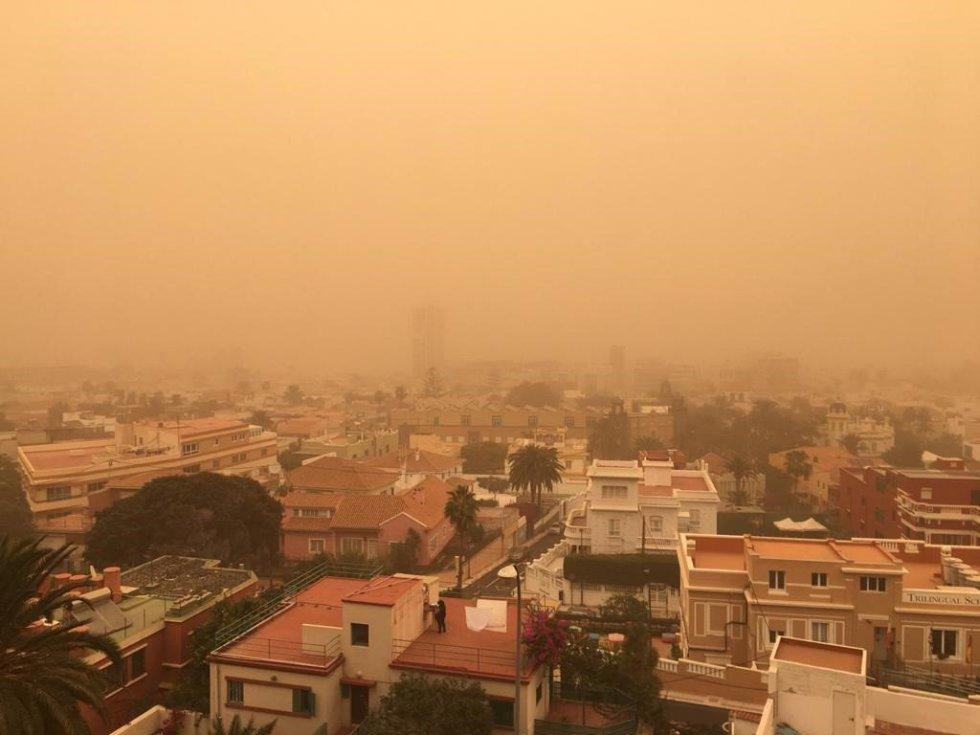Episodio de calima en la isla de Gran Canaria