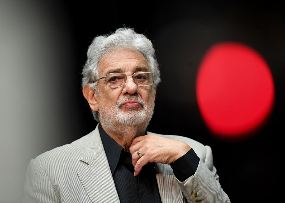 "Opera singer Placido Domingo,speaks during a press conference on the performance ""State Opera for all"". DThe 78-year-old opera star resigned as general director of the Los Angeles Opera and withdrew from future performances,"