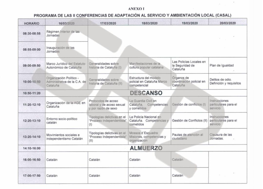 Los guardias civiles destinados en Cataluña estudiarán catalán
