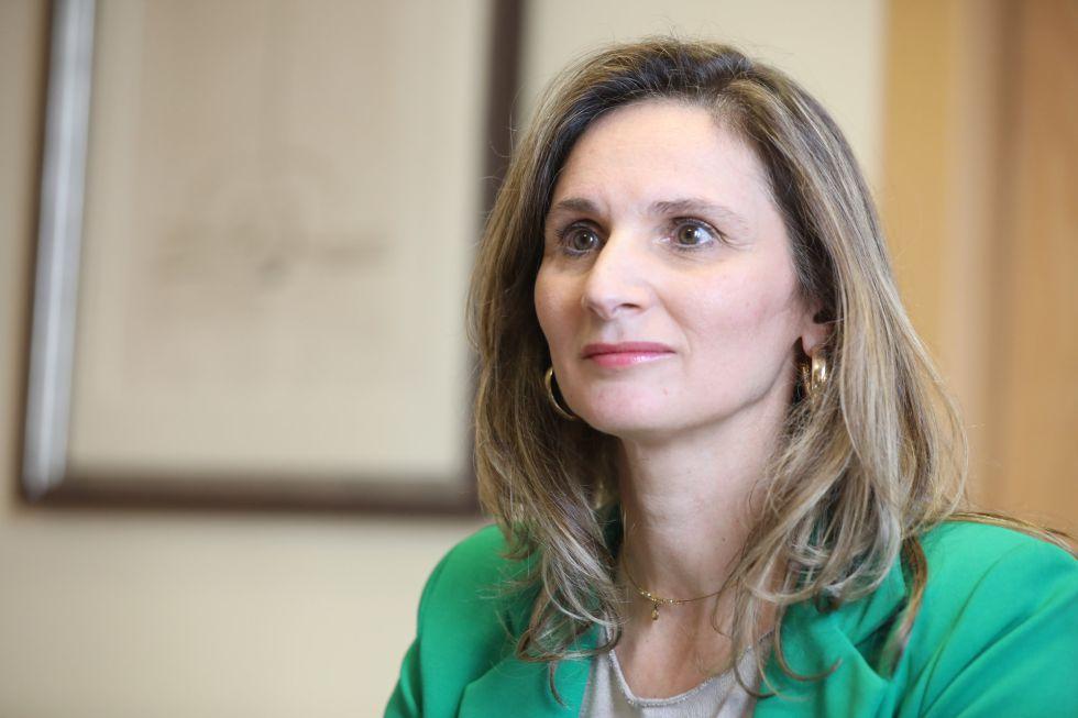 La consejera de Medio Ambiente de la Comunidad de Madrid, Paloma Martín informó de su positivo el día 12. En la imagen, durante su entrevista con Europa Press en la Consejería.