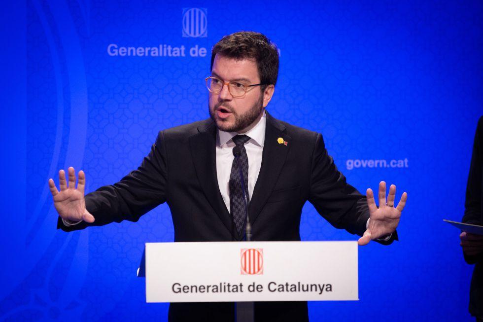 El vicepresidente del Govern, Pere Aragonès, también ha comunicado su positivo en COVID-19 este lunes.